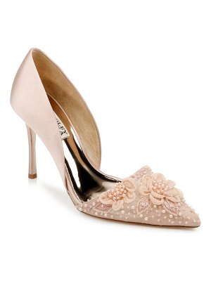 Badgley Mischka Collection badgley mischka ophelia beaded floral pointed toe pump
