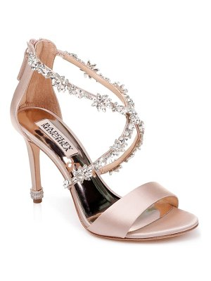 Badgley Mischka crystal embellished sandal