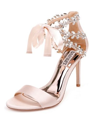 Badgley Mischka Felicia Crystal and Satin Pumps