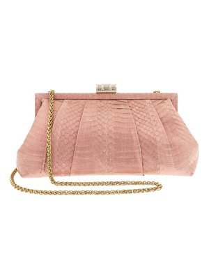 Badgley Mischka grant genuine snakeskin clutch