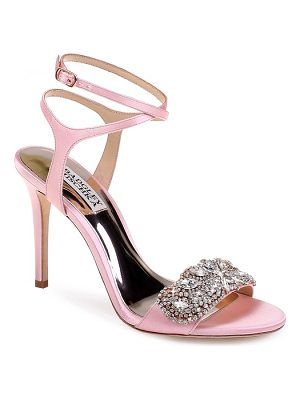 Badgley Mischka hailey embellished ankle strap sandal