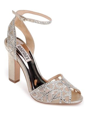Badgley Mischka hart crystal embellished sandal