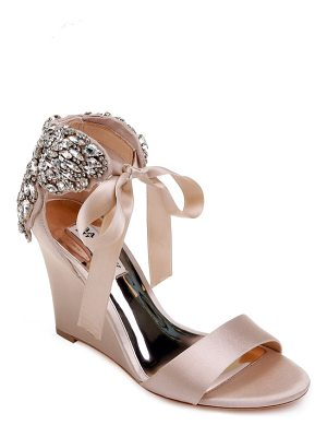 Badgley Mischka badgley mischka heather crystal embellished wedge