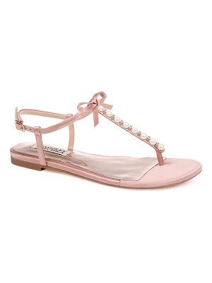 Badgley Mischka honey embellished sandal