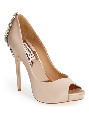 Badgley Mischka Collection badgley mischka 'kiara' crystal back open toe pump