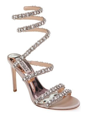 Badgley Mischka peace crystal ankle wrap sandal