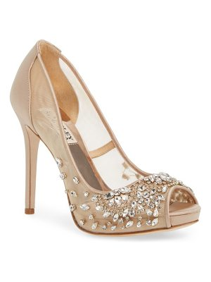 Badgley Mischka badgley mischka pepper peep toe pump