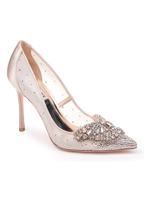 Badgley Mischka quintana crystal embellished pump