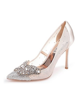 Badgley Mischka Quintana Mesh Embellished Pumps