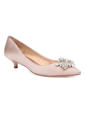 Badgley Mischka Collection badgley mischka vail embellished kitten heel pump