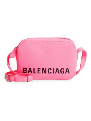 Balenciaga extra small ville leather camera bag