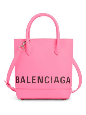 Balenciaga extra small ville logo leather tote