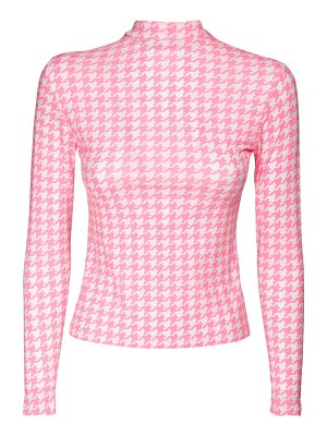 Balenciaga Houndstooth print stretch jersey top