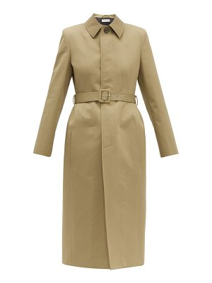 Balenciaga hourglass belted cotton gabardine trench coat