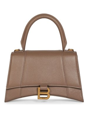 Balenciaga hourglass leather top handle bag