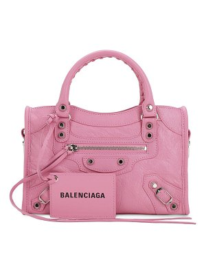 Balenciaga Mini city leather strap logo bag