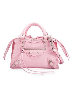 Balenciaga Neo Classic City Mini Croc-Embossed Satchel Bag