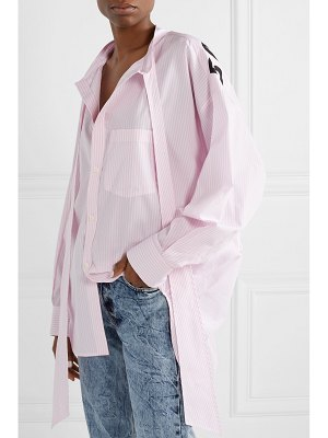 Balenciaga new swing oversized striped cotton-poplin shirt