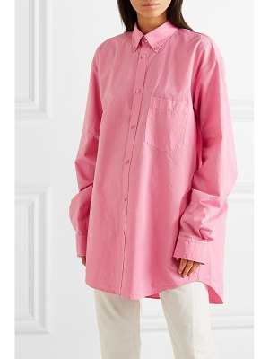 Balenciaga oversized printed cotton shirt