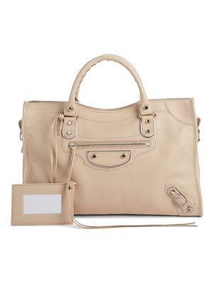BALENCIAGA PARIS Small Classic Metallic Edge City Leather Tote