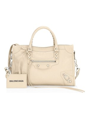 Balenciaga small city leather logo strap bag