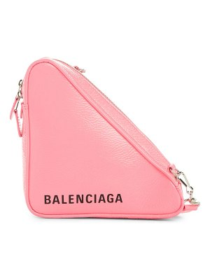 Balenciaga triangle calfskin crossbody bag