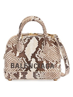 Balenciaga Ville XXS Python Top-Handle Bag