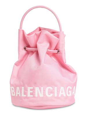 Balenciaga Xs wheel printed nylon bucket bag