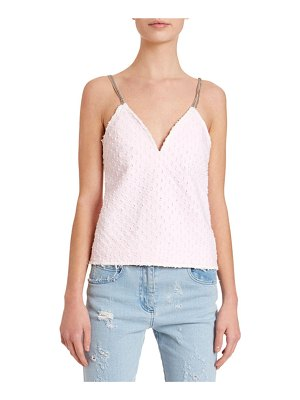 Balmain Chain-Strapped Laser-Dotted Tank