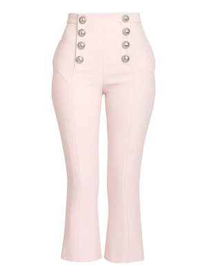 Balmain cropped flare button pants