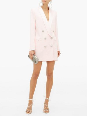 Balmain double-breasted crepe blazer dress