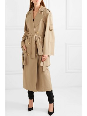 Balmain double-breasted gabardine trench coat