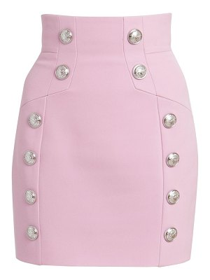 Balmain grain de poudre high waist skirt