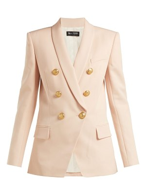 Balmain Long double-breasted wool blazer