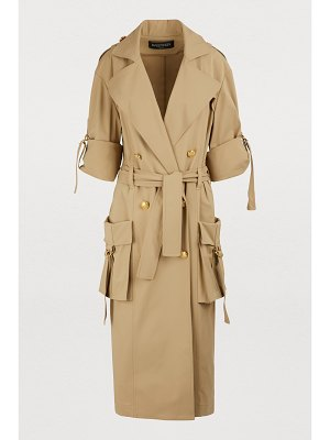 Balmain Oversized pockets trench coat