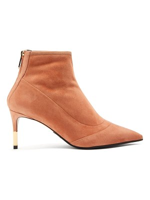 Balmain Point-toe suede ankle boots