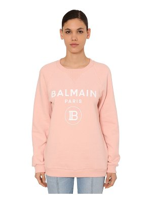 Balmain Printed cotton jersey sweatshirt