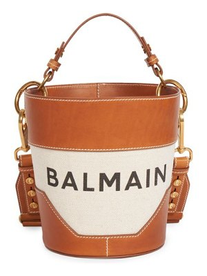 Balmain saddler cotton & linen bucket bag