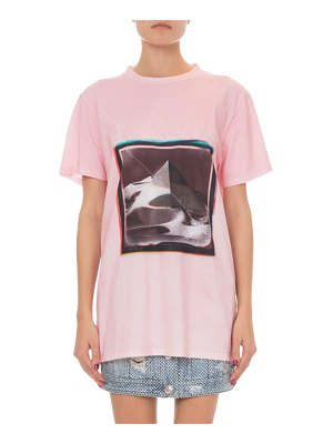 Balmain Short-Sleeve Pyramid Logo Graphic T-Shirt