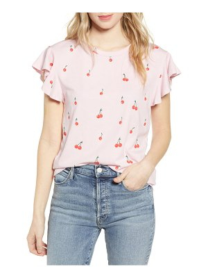 BAN.DO ban. do ruffle cherry bomb tee