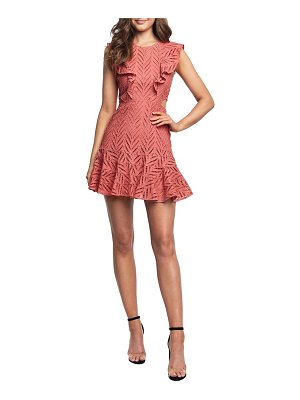 Bardot aria ruffle cotton eyelet minidress