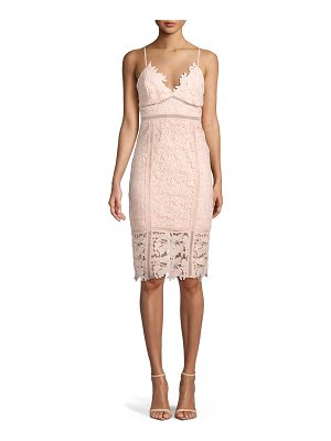 BARDOT Botanica Sleeveless Lace Sheath Dress
