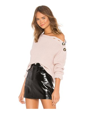 Bardot Button Shoulder Sweater