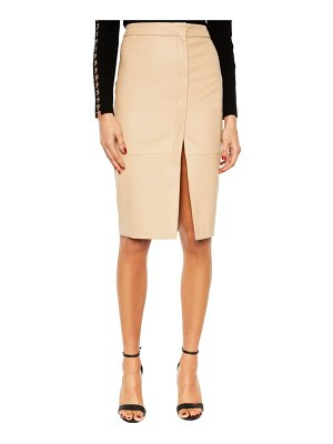 Bardot dee faux leather pencil skirt
