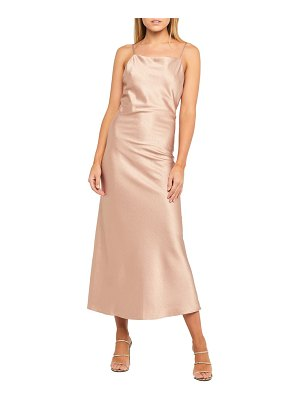 Bardot estelle draped satin maxi slipdress