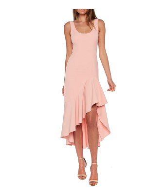 Bardot esther frill high/low dress