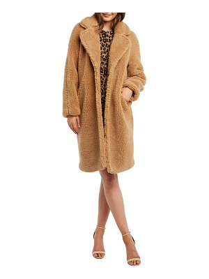 Bardot faux fur long coat