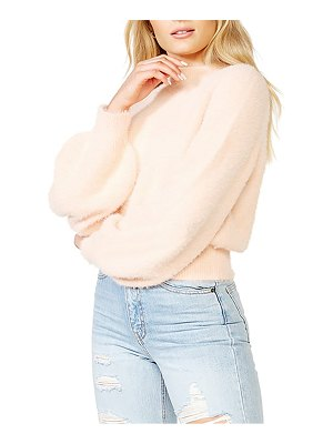Bardot fluffy balloon sleeve sweater