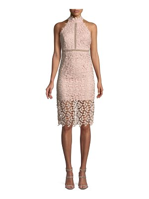 Bardot Gemma Lace Halter Cocktail Dress