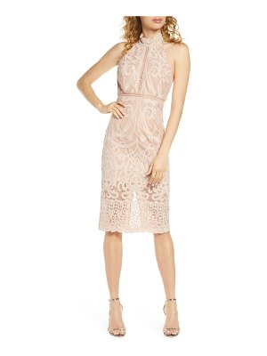 Bardot hana lace halter dress